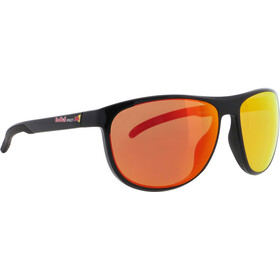 Red Bull SPECT Slide Zonnebril, black/brown with red mirror polarized